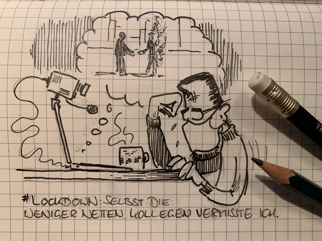 Buddy Müller vermisst seine Kollegen im #Corona #Lockdown. Auch die weniger netten.