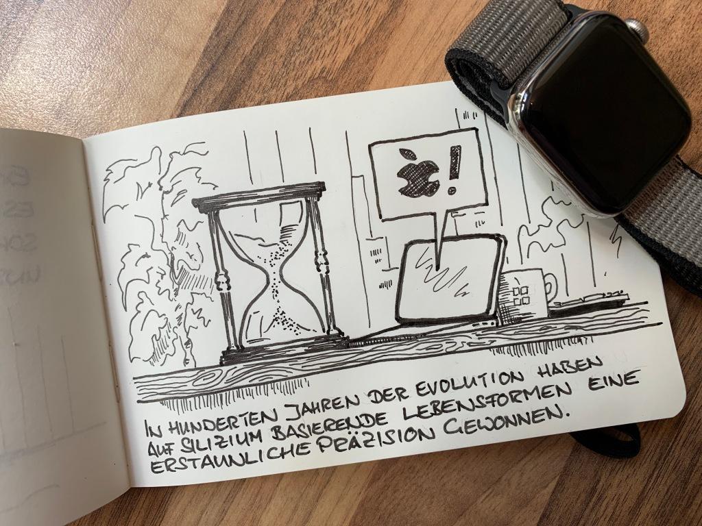 Von der Sanduhr bis zur Apple-Watch: Silizium und Pünktlichkeit gehen Hand in Hand.